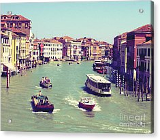 Canale Grande Venice Italy Acrylic Print by Ernst Cerjak