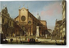 Canaletto Venice The Campo Ss. Giovanni E Paolo 1736 40 Acrylic Print by MotionAge Designs