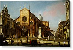 Canaletto Venice The Campo Ss Acrylic Print by MotionAge Designs
