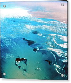 Canary Islands Seen From Space Acrylic Print by Nasa/science Photo Library