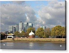 Canary Wharf And Poplar Acrylic Print by Dan Davidson