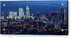 Canary Wharf And Stratford Acrylic Print by Kenny Mccartney