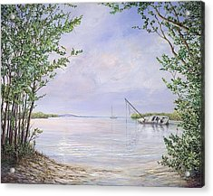 Canaveral Cove Acrylic Print by AnnaJo Vahle