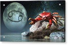 Cancer Zodiac Symbol Acrylic Print by Daniel Eskridge