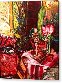 Acrylic Print featuring the painting Candela by Helena Bebirian