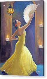 Candelight Castinetts Acrylic Print by Gwen Carroll