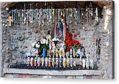 Candels And Rosaries Acrylic Print by Carla P White
