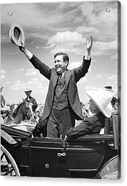 Candidate Wendell Willkie Acrylic Print by Underwood Archives