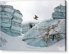 Candide Thovex Out Of Nowhere Into Nowhere Acrylic Print