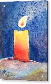 Candle Glow Acrylic Print by Marilyn Jacobson