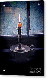 Candle In The Window Acrylic Print by Jill Battaglia