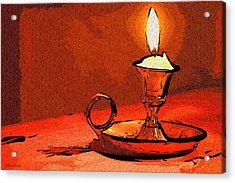 Acrylic Print featuring the painting Candle Lamp by Tyler Robbins