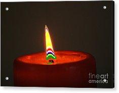 Candle Light Acrylic Print by Carol Lynch