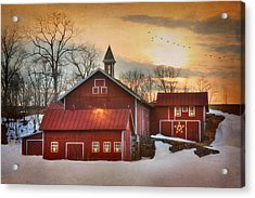 Candleglow Acrylic Print by Lori Deiter