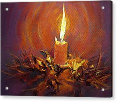 Acrylic Print featuring the painting Candlelight by Jieming Wang