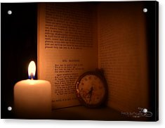 Candlelight Read Acrylic Print by Guy Hoffman