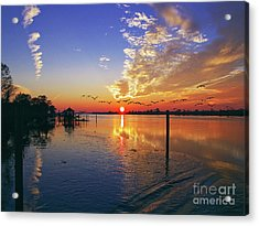 Candlelight Sunset Acrylic Print