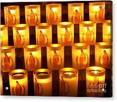 Candlelights - Bougies Notre Dame De Paris - Paris - France Acrylic Print by Francoise Leandre