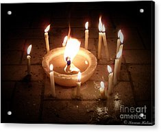 Candles For Innocent Souls Acrylic Print