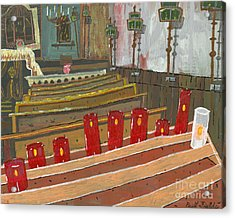 Candles In Cinque Terra Acrylic Print