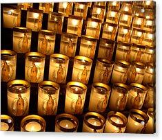 Candles Of Cathedrale Notre Dame De Paris Acrylic Print