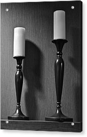 Candlestick Acrylic Print by Frozen in Time Fine Art Photography