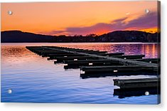 Candlewood Lake Acrylic Print by Bill Wakeley