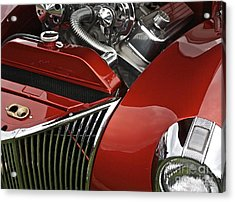 Candy Apple Red And Chrome Acrylic Print