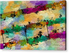 Acrylic Print featuring the digital art Candy-coated Chords 1 by Lon Chaffin