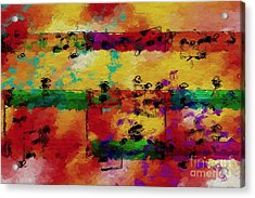 Acrylic Print featuring the digital art Candy-coated Chords 2 by Lon Chaffin