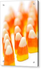 Candy Corn Army Acrylic Print by Amy Cicconi