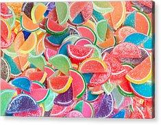 Candy Fruit Acrylic Print by Alixandra Mullins
