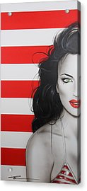 Portrait - ' Candy Girl ' Acrylic Print by Christian Chapman Art