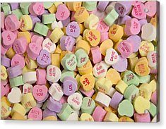Candy Heart Message 2 Acrylic Print by Regina  Williams