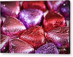 Candy Hearts Acrylic Print by Elena Elisseeva