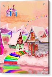 Candy Land Acrylic Print by Brad Simpson