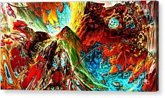 Candy Moutain Acrylic Print by Bernard MICHEL