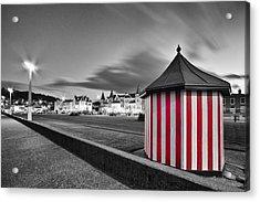 Candy Stripe Kiosk Acrylic Print