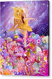 Candy Sugarplum Fairy Acrylic Print by Alixandra Mullins