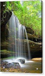 Caney Creek Falls Acrylic Print by Scott Moore