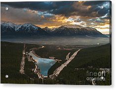 Canmore Sunrise Acrylic Print by Ginevre Smith