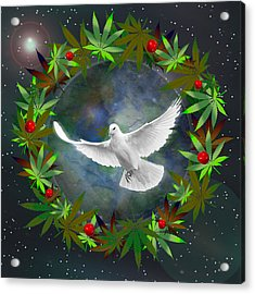 Cannabis Around The World Acrylic Print