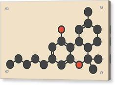 Cannabis Drug Molecule Acrylic Print