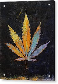 Cannabis Acrylic Print by Michael Creese