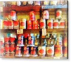 Canned Tomatoes Acrylic Print by Susan Savad