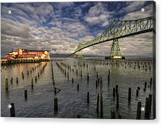 Cannery Pier Hotel And Astoria Bridge Acrylic Print