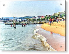 Cannes Beach 1 Acrylic Print