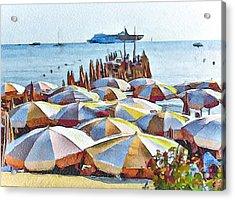 Cannes Beach 2 Acrylic Print
