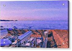 Cannes Beach Before Breakfast Acrylic Print