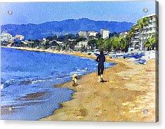 Cannes Beach Run Acrylic Print